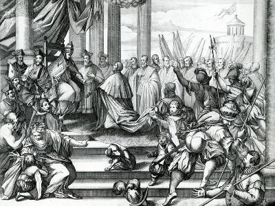 Pope Alexander III (1105-81) Offering Doge Sebatiano Ziani (D.1178) the Blessed--Giclee Print