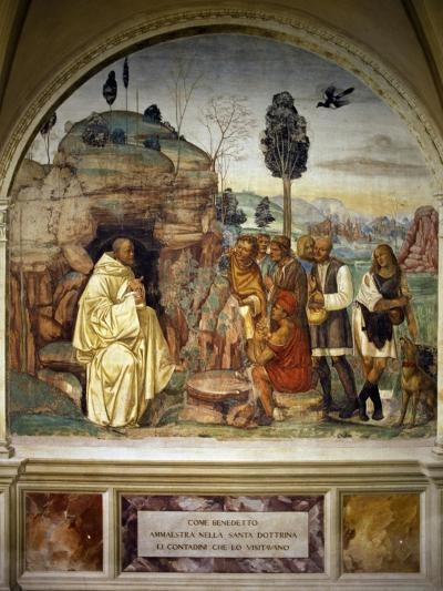 Pope Benedict Teaching Holy Doctrine to Peasants--Giclee Print