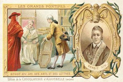 Pope Benedict XIV, Patron of the Arts, 18th Century--Giclee Print