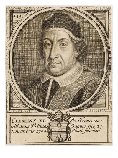 Pope Clemens XI (Gianfrancesco Albani)--Giclee Print