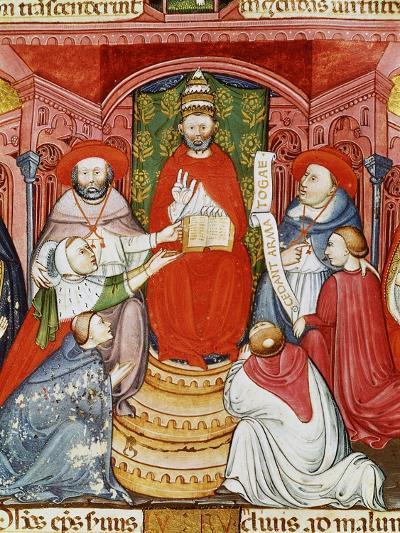 Pope Clement VII, 1478-1534 (Giulio de Medici), Dictating his Laws, 16th century Manuscript--Giclee Print
