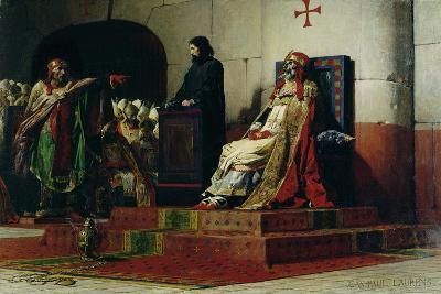 Pope Formosus (816-896) and Pope Stephen VI in 897-Jean Paul Laurens-Giclee Print
