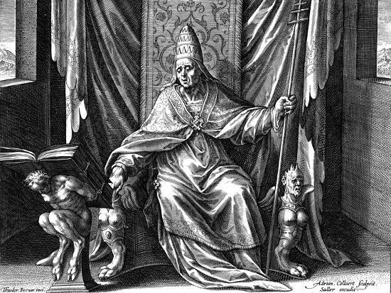 Pope Gregory I, the Great, C1540-1567-Adriaen Collaert-Giclee Print
