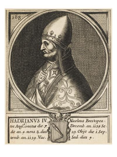 Pope Hadrianus IV (Nicholas Breakspeare) the Only English Pope--Giclee Print