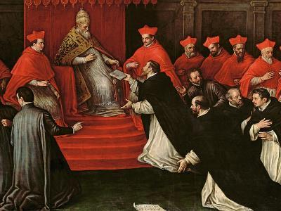 Pope Honorius III (1148-1227) Approving the Order of St. Dominic in 1216 (Detail)-Leandro Da Ponte Bassano-Giclee Print
