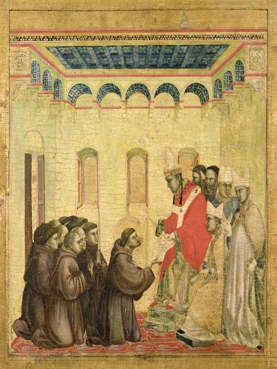 Pope Innocent III (1160-1216) Approving the Rule-Giotto di Bondone-Giclee Print