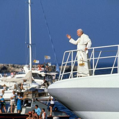 Pope John Paul II During Travel in USA in 1979--Photo