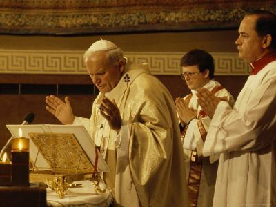 Pope John Paul II Performs a Mass at the Vatican-James L^ Stanfield-Photographic Print