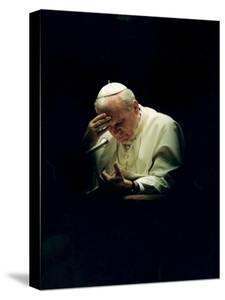 Pope John Paul II Reading a Prayer