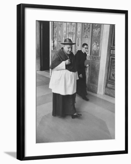 Pope John XXIII Arriving Just before the Papal Election-Dmitri Kessel-Framed Premium Photographic Print