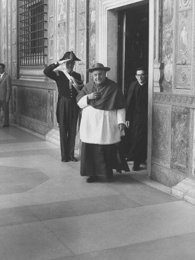 Pope John XXIII Arriving Just before the Papal Election-Dmitri Kessel-Premium Photographic Print