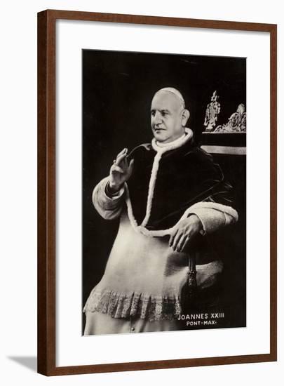 Pope John XXIII--Framed Photographic Print