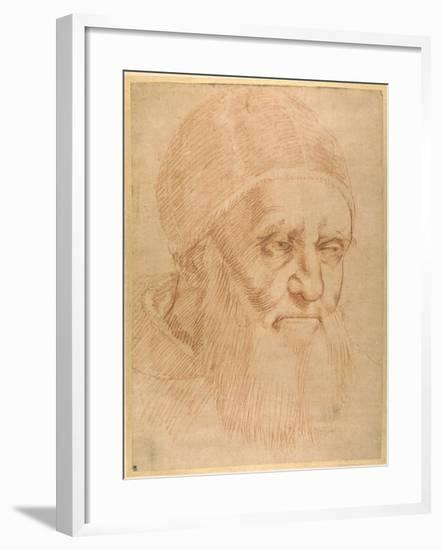Pope Julius II, after a Cartoon by Raphael-Raphael-Framed Giclee Print