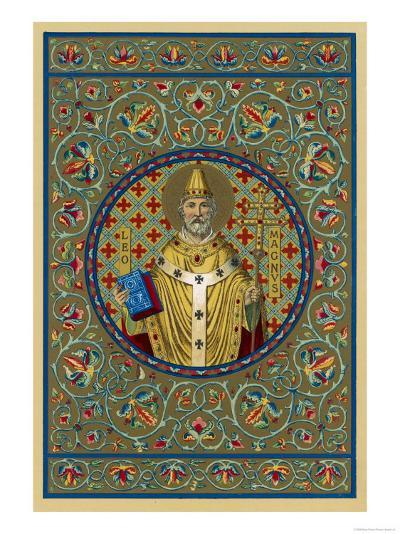 """Pope Leo I """"The Great"""" Pope and Saint Opposed Heretics Menaced by Attila the Hun--Giclee Print"""