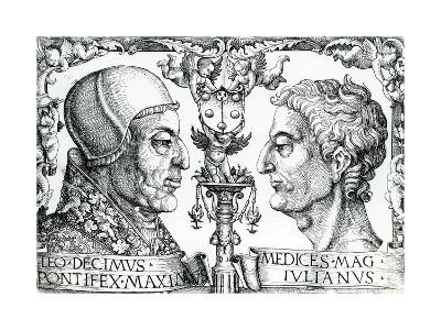 Pope Leo X (1475-1521) and Emperor Julian (330-363), 1513--Giclee Print