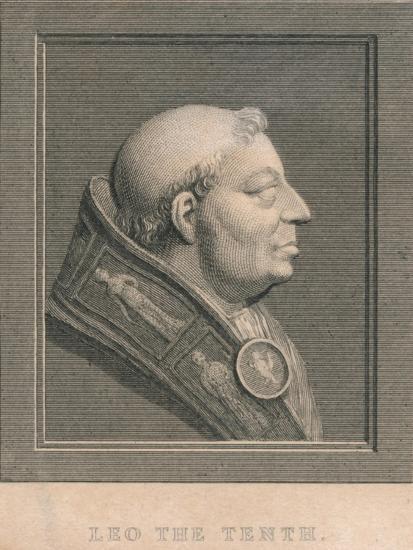 Pope Leo X (1475-1521), born Giovanni di Lorenzo de' Medici, c1830-Unknown-Giclee Print