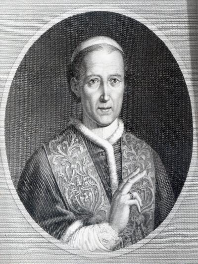 Pope Leo Xii, Engraved by Raffaele Persichini-Agostino Tofanelli-Giclee Print