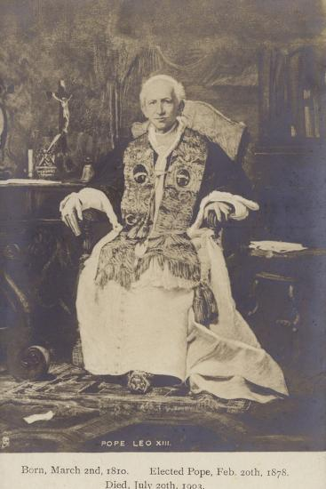 Pope Leo XIII--Photographic Print