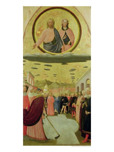 Pope Liberius Founding the Basilica of Santa Maria Della Neve-Tommaso Masolino Da Panicale-Giclee Print