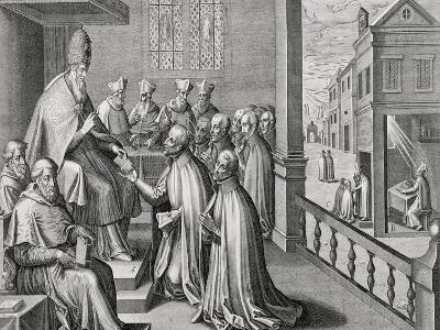 Pope Paul III Receiving the Rule of the Society of Jesus, 1540-C. Malloy-Giclee Print