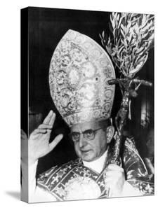 Pope Paul Vi, Blessing Crowd in St. Peter's Basilica on Palm Sunday, Vatican City, April 3rd, 1966