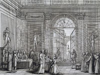 Pope Pius Vi Welcomes Princesses Who Were King Louis XVI of France's Aunts, Italy--Giclee Print