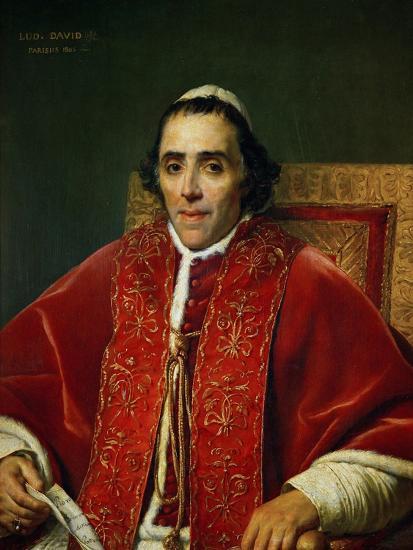 Pope Pius VII (1742-1823)-Jacques-Louis David-Giclee Print