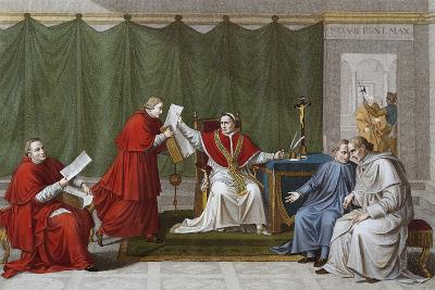 Pope Pius VII Delivering Agreement Reached Between Holy See and French Government--Giclee Print