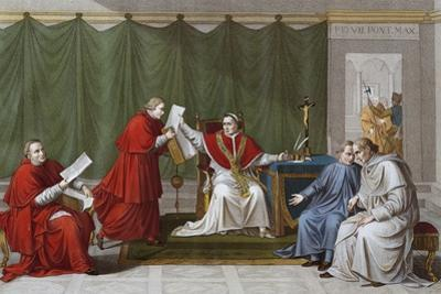 Pope Pius VII Delivering Agreement Reached Between Holy See and French Government