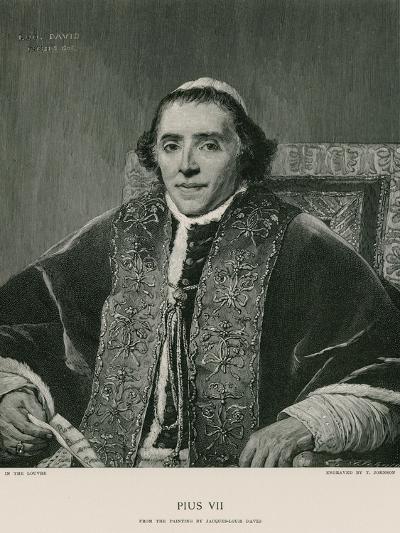 Pope Pius VII-Jacques-Louis David-Giclee Print