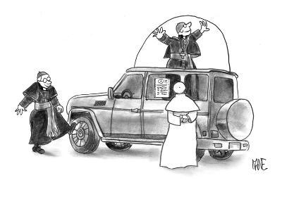 Pope shopping for new Popemobile. - New Yorker Cartoon-John Kane-Premium Giclee Print