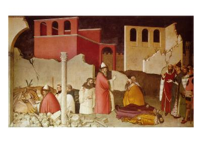Pope St Sylvester's Miracle Scenes from the Life of Saint Sylvester: Miracle of the Dragon--Giclee Print