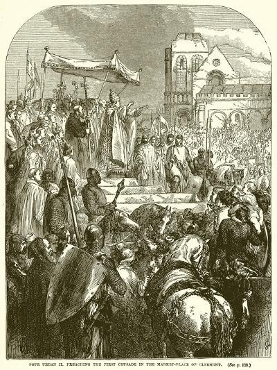 Pope Urban II Preaching the First Crusade in the Market-Place of Clermont--Giclee Print