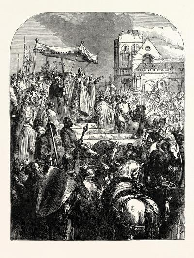 Pope Urban Ii. Preaching the First Crusade in the Market Place of Clermont--Giclee Print