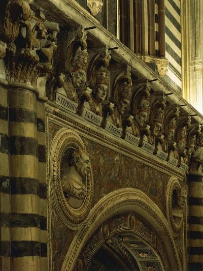 Popes' Mouldings, Cathedral of St Mary of Assumption, Siena, Tuscany, Italy, 12th-17th Century--Giclee Print
