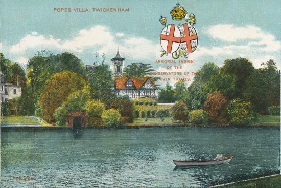 'Popes Villa, Twickenham', c1910-Unknown-Giclee Print