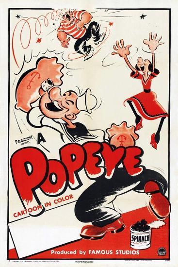 Popeye (Left)--Art Print