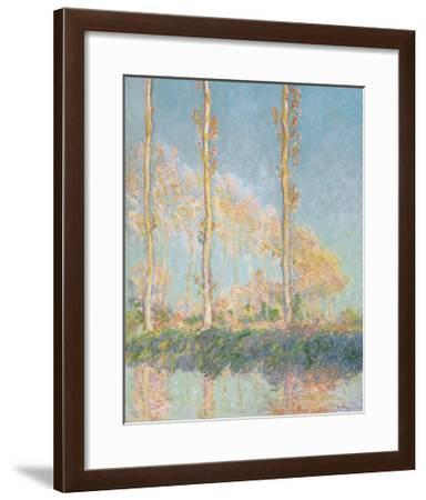 Poplars, 1891-Claude Monet-Framed Premium Giclee Print