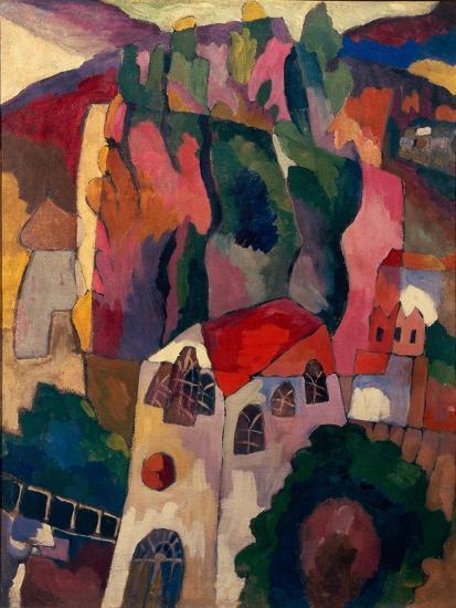 Poplars, 1916-Aristarkh Vasilyevich Lentulov-Giclee Print