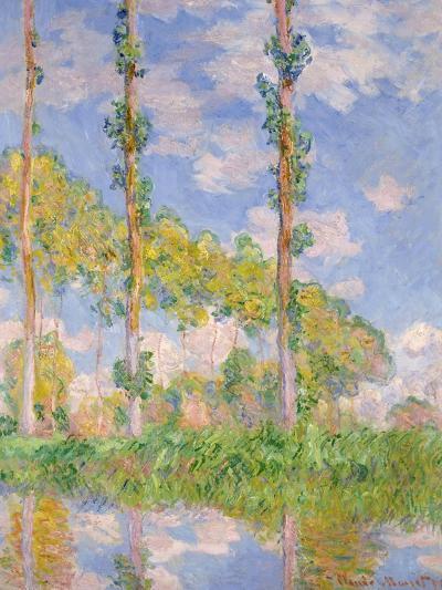 Poplars In The Sun-Claude Monet-Giclee Print