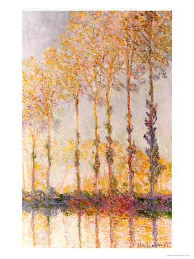 Poplars on the Banks of the Epte, 1891-Claude Monet-Giclee Print