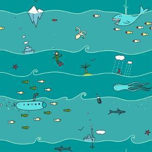 Underwater Sea Landscape Background by Popmarleo