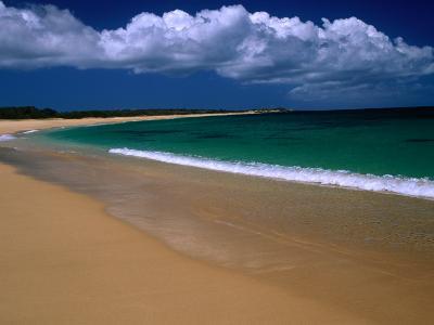 Popohaku Beach is the Longest Beach on Molokai's West End, Molokai, Hawaii, USA-Ann Cecil-Photographic Print