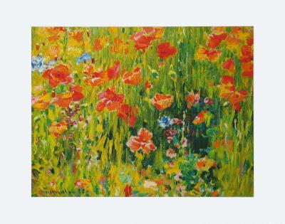Poppies, 1888-Robert William Vonnoh-Art Print