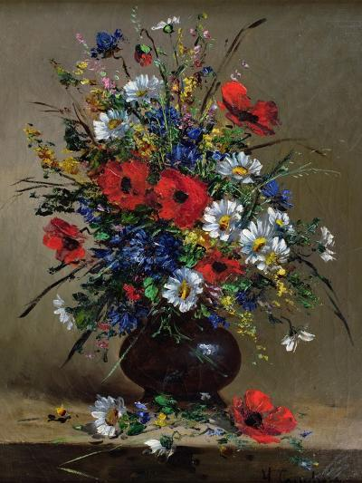 Poppies and Daisies-Eugene Henri Cauchois-Giclee Print