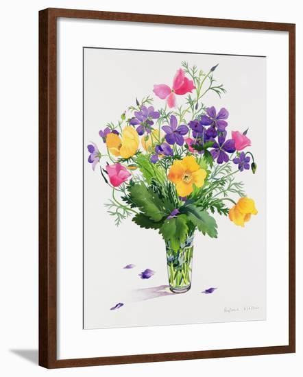 Poppies and Geraniums-Christopher Ryland-Framed Giclee Print