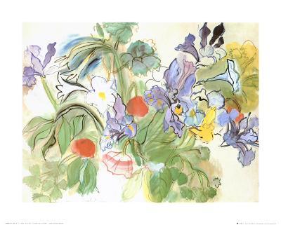 Poppies and Iris-Raoul Dufy-Art Print