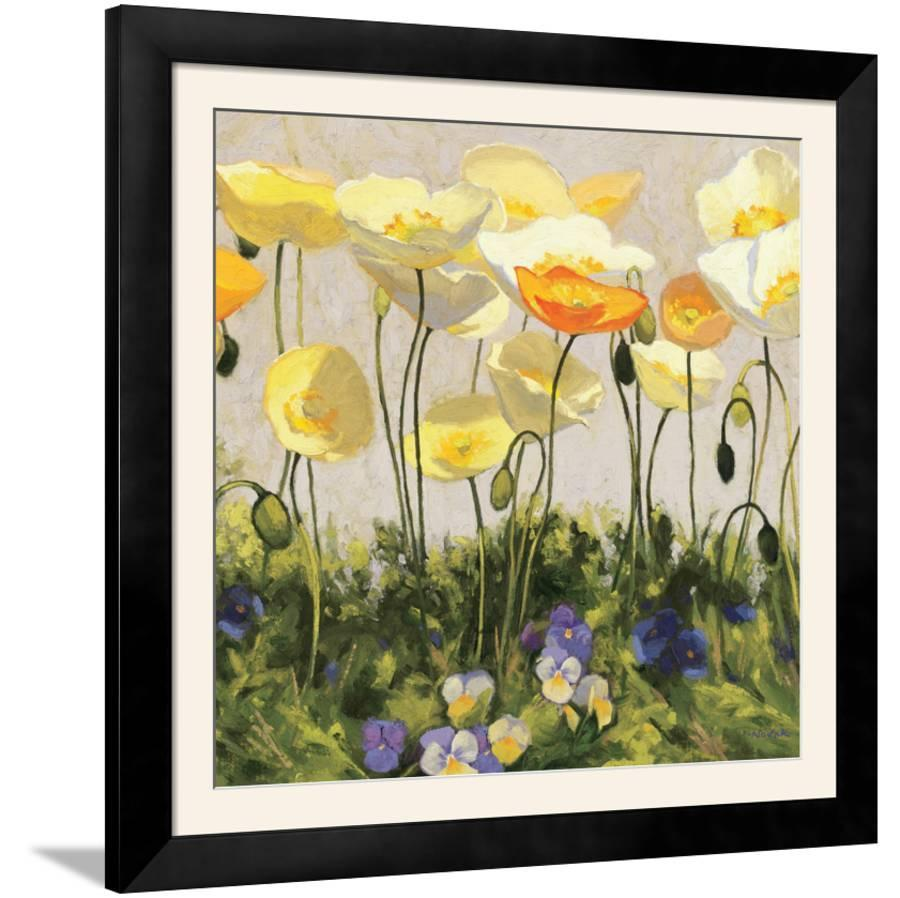 Poppies and Pansies II Framed Photographic Print by   Art.com