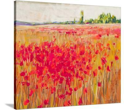 Poppies And Trees IX--Stretched Canvas Print