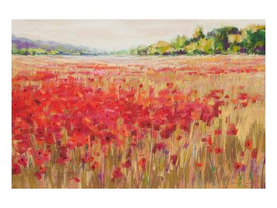 Poppies And Trees VI--Art Print